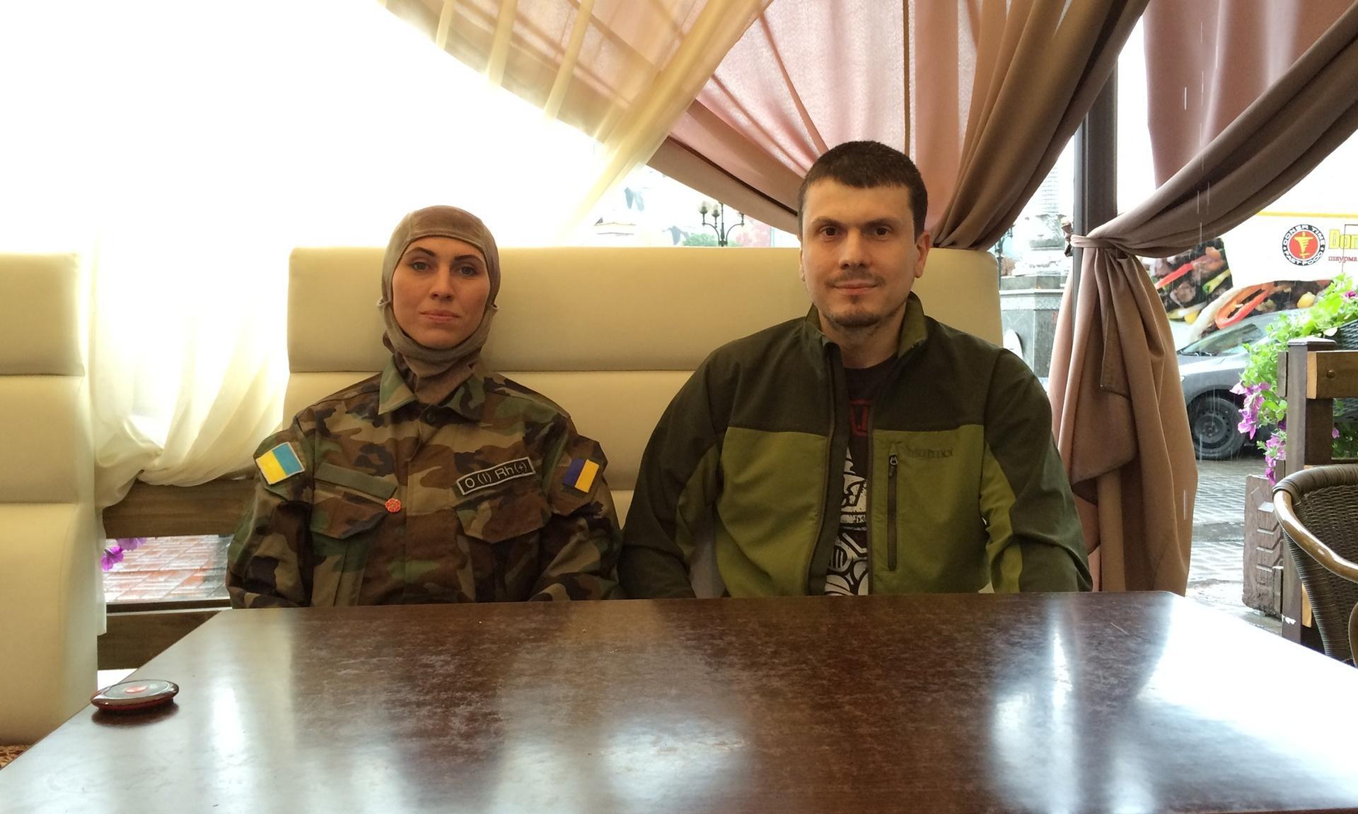 Адам Осмаєв та Аміна Окуєва з батальону імені Джохара Дудаєва