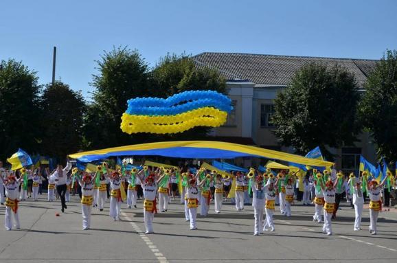 флаг Украины на Луганщине