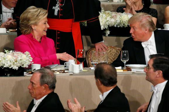 Хілларі Клінтон Дональд Трамп вечеря