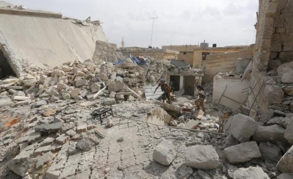 наслідки російського авіаудару під Алеппо