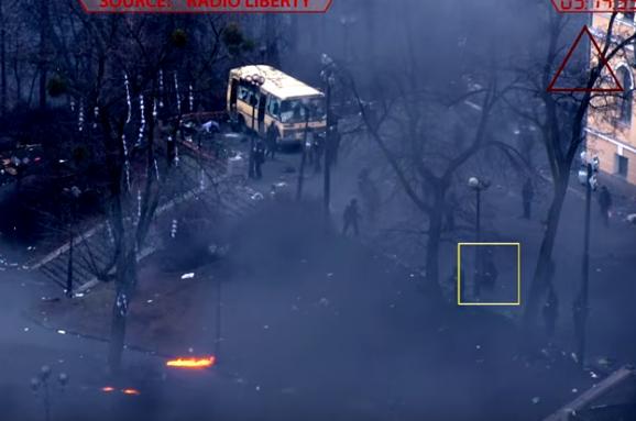 З'явилося відео зі стріляниною беркутівця під час євромайдану