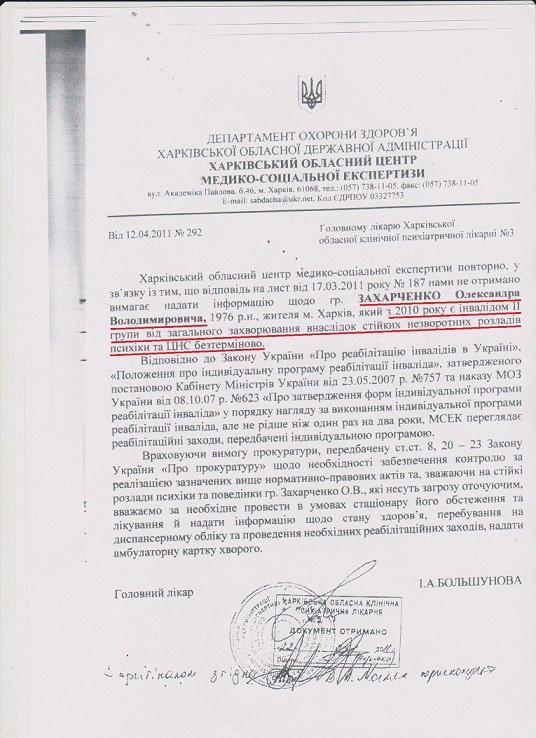 псих Захарченко