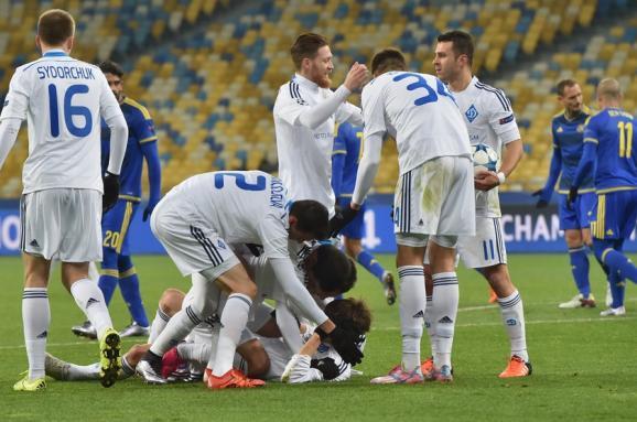 «Динамо» вийшло вплей-оф Ліги чемпіонів