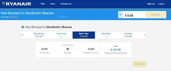 З'явилися перші квитки на рейси Ryanair з України