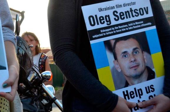 Акція Євромайдан SOS до річниці арешту Олега Сенцова та«кримських терористів»