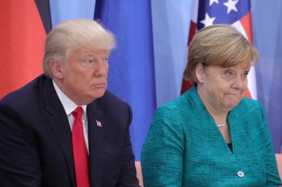 Ангела Меркель Дональд Трамп
