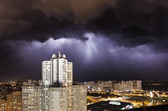 ДержНС: УКиєві довечора очікують сильні дощі ташквали