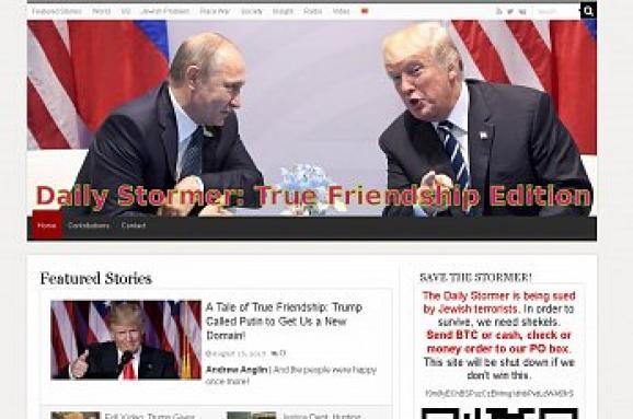 Сайт американських неонацистів переїхав взону .ru