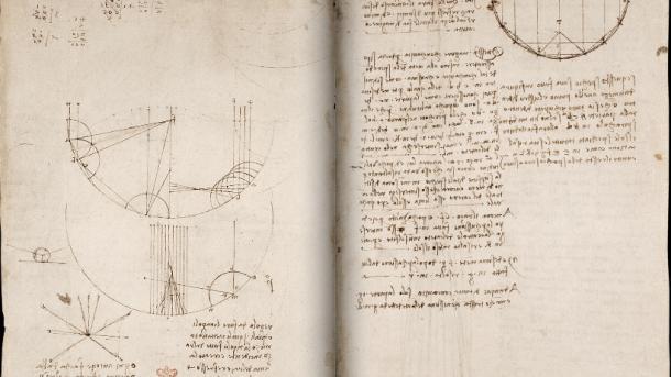 Оцифрованную версию рукописей Леонардо да Винчи выложили в сеть