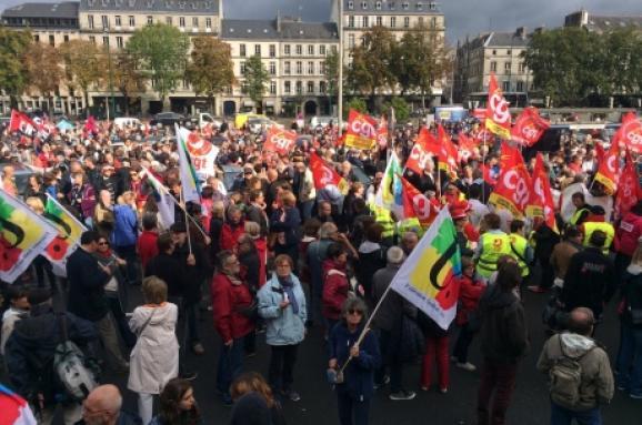 УФранції почалися масові акції протесту проти трудової реформи Макрона