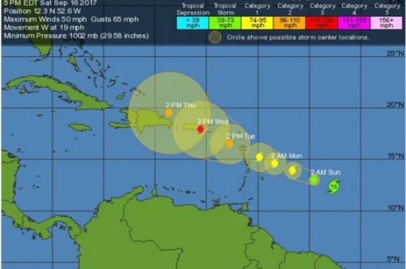 Над Атлантичним океаном сформувався новий тропічний шторм