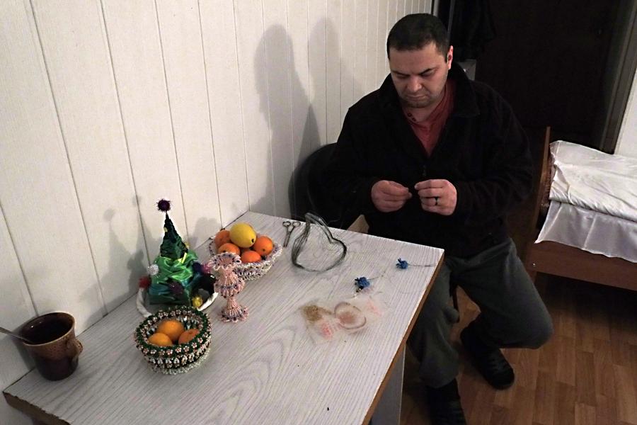 Олександр Смирнов, танкіст-механік у палаті Головного військового госпіталя. Київ, грудень 2015