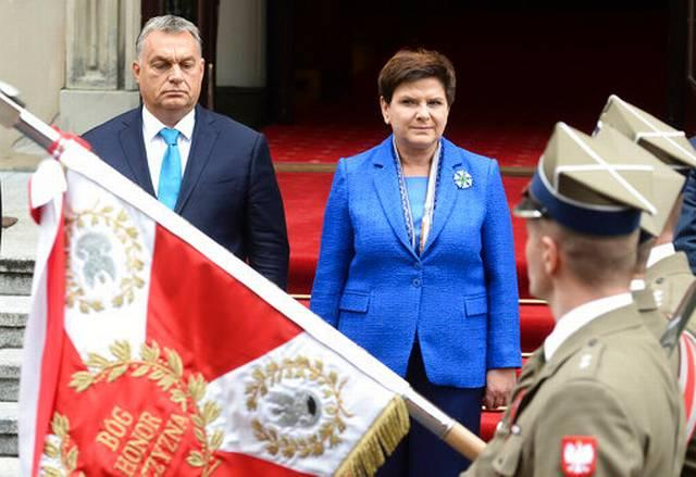 Прем'єр-міністр Угорщини Віктор Орбан та прем'єр-міністр Польщі Беата Шидло