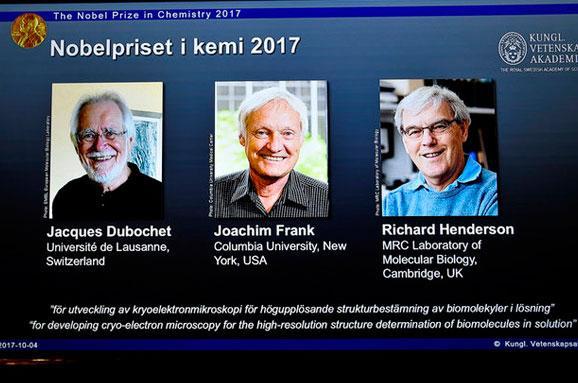 Оголошені лауреати Нобелівської премії 2017 року з хімії