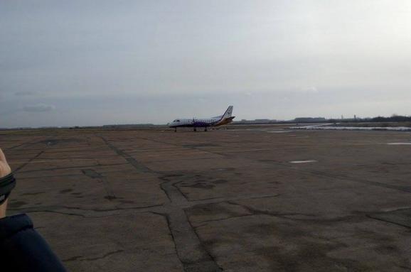 Аеропорт «Житомир» прийняв перший комерційний літак після 25 років простою
