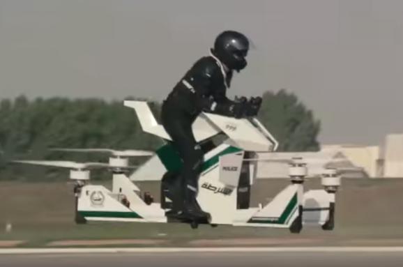 Поліція Дубаю пересаджується на повітряні мотоцикли