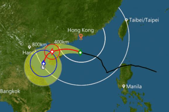 УГонконзі оголосили штормове попередження узв'язку знаближенням тайфуну Ханун