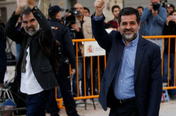 Суд заарештував лідерів каталонських націоналістичних організацій