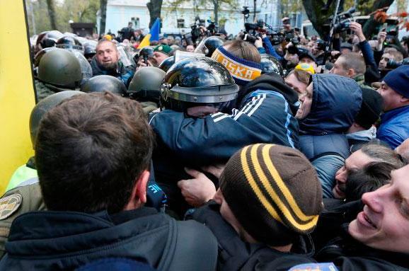 Протести уКиєві: одному зправопорушників оголосили підозру