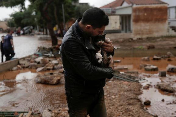 Наводнение в Греции: 14 погибших, затоплены дороги и дома. Фоторепортаж