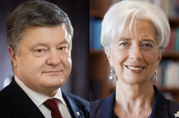 Порошенко провів телефонну розмову з главою МВФ. Стало відомо, про що домовилися