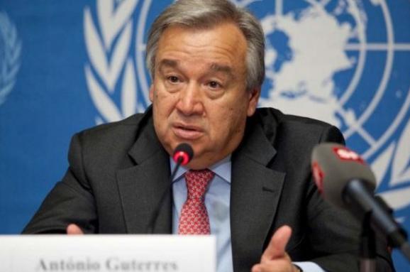 ВІДЕО: Уноворічному привітанні генсек ООН звернувся досвіту зсигналом тривоги