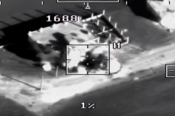 Росіяни змонтували відео з ударом по бойовиках, які