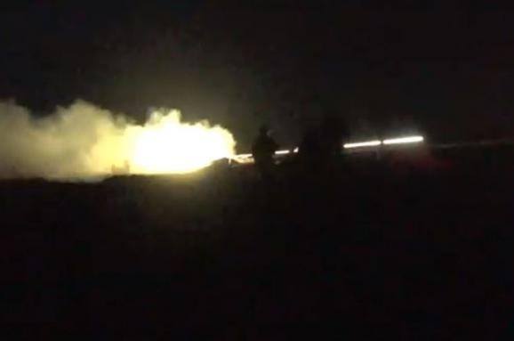 Українські десантники показали відео артилерійських навчань