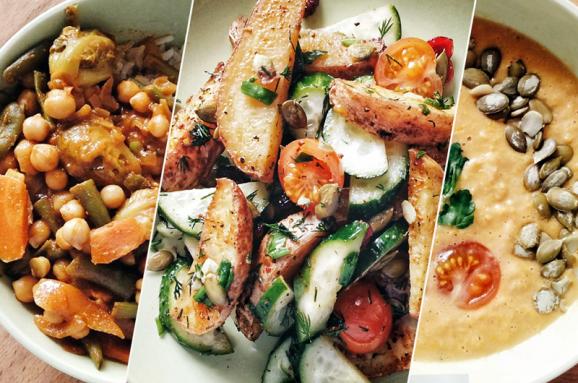 Суп из кукурузы и салат с печеным картофелем. Рецепты к посту, которые останутся в вашем меню