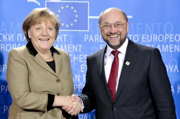 Німецькі соціал-демократи погодилися накоаліцію зпартією Меркель