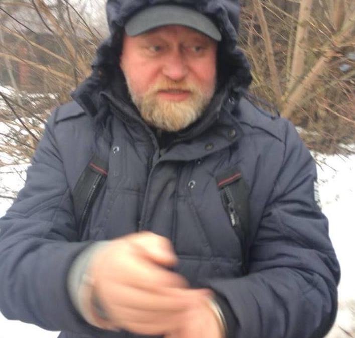 Володимир Рубан у кайданках