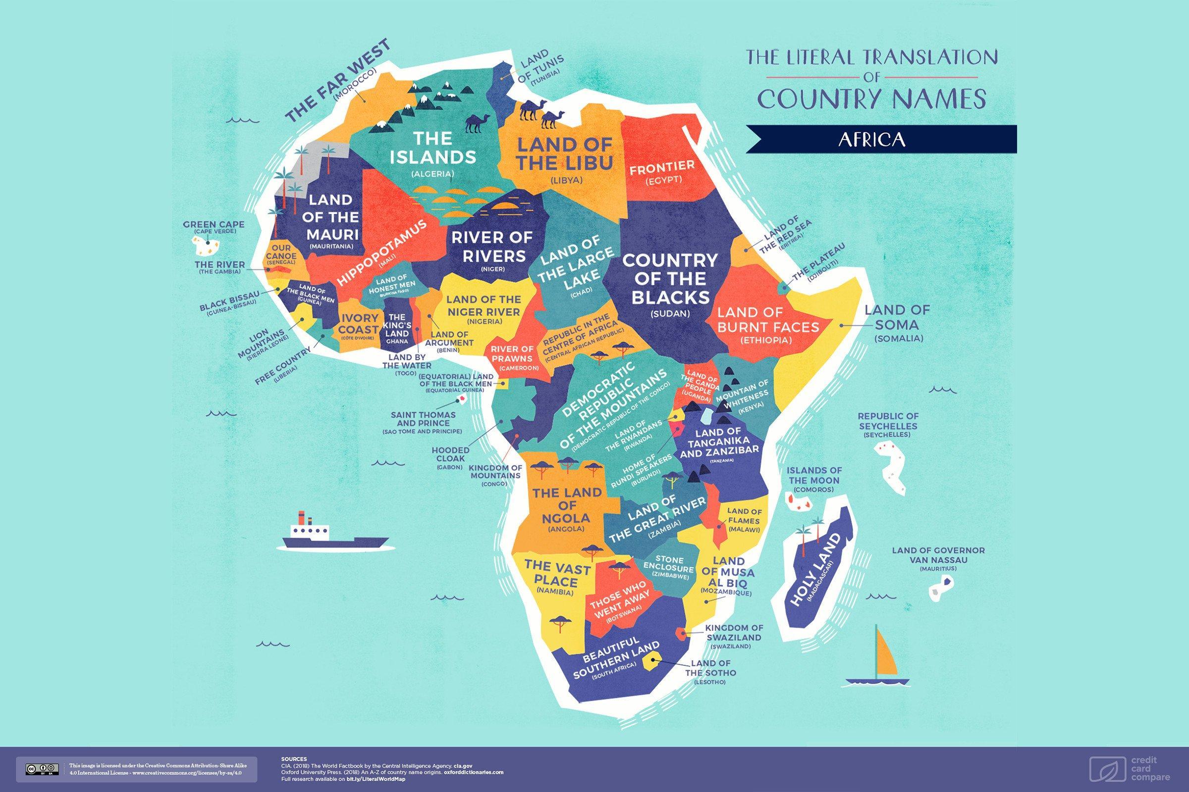 """Что означают названия стран мира. Атлас, который расскажет где находится """"земля жестоких людей"""" и не только"""