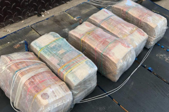Українець намагався таємно вивезти доРФ 15,5 млн російських рублів