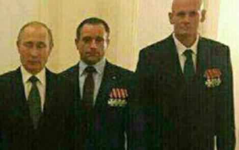 Уткин (крайний справа) с Путиным в Кремле