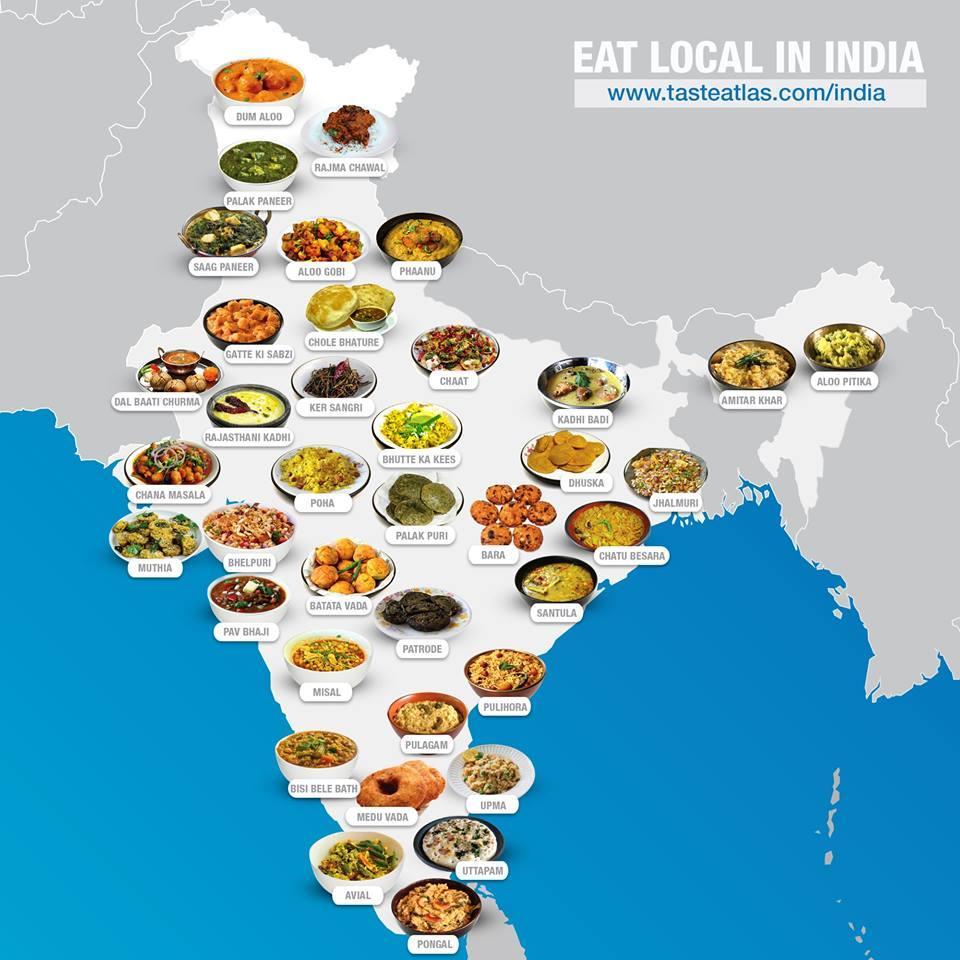 Атлас вкусностей. Что стоит попробовать в каждой стране мира