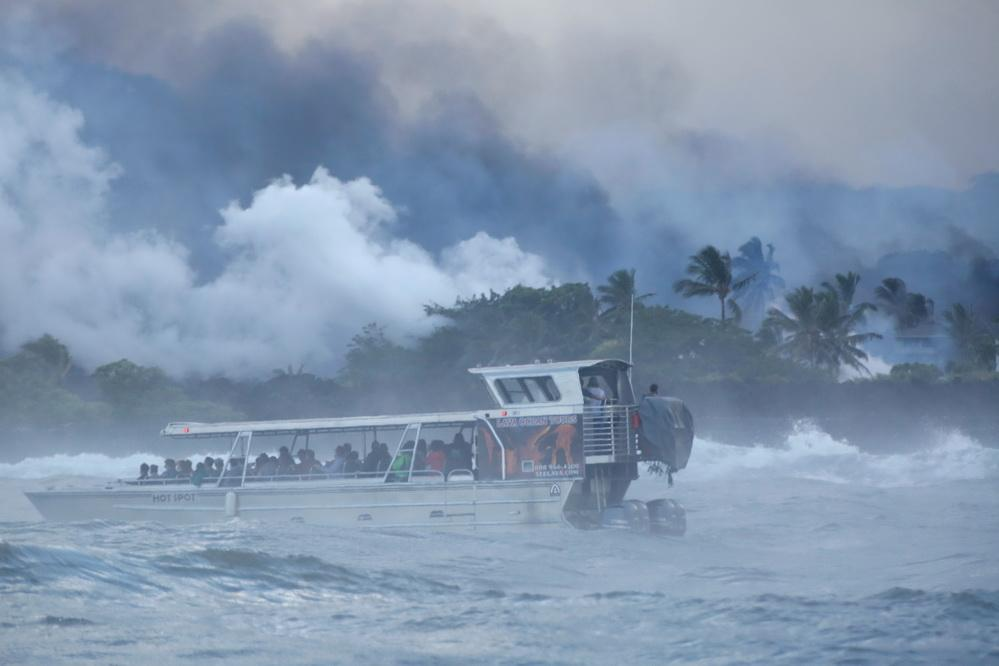 На Гавайях продолжается извержение вулкана: дома уничтожены, население эвакуируют. Фоторепортаж