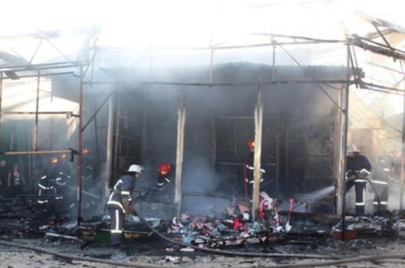 Речовий ринок в Хмельницькому постраждав від пожежі b9e063918340b