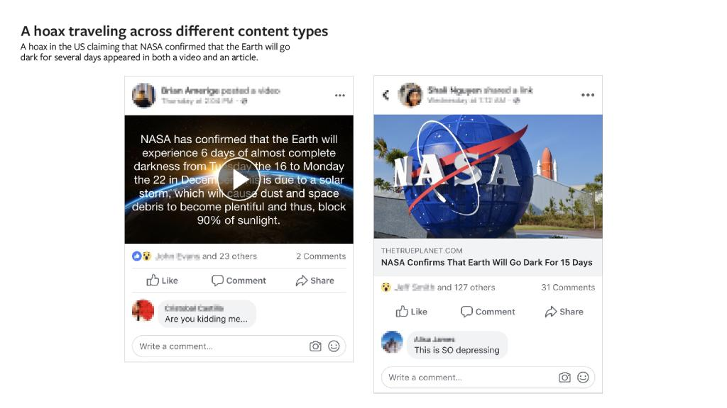 Facebook начнет оценивать фото и видео на достоверность