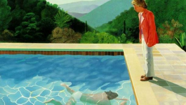 Картину с обнаженным мужчиной в бассейне оценили в $80 млн. Ее рисовал гей в депрессии