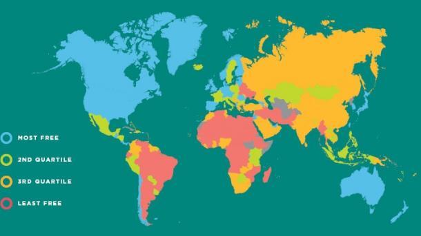 Украина до сих пор в списке стран с наименьшей экономической свободой в мире