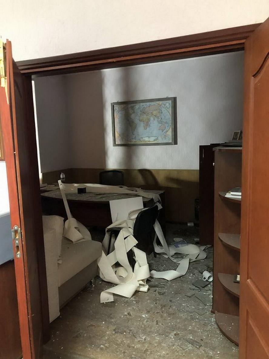 Взрыв под телеканалом