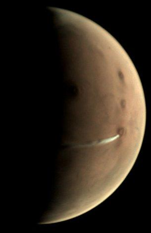 Astronomers noticed a strange white cloud over Mars. What it is Im-111111