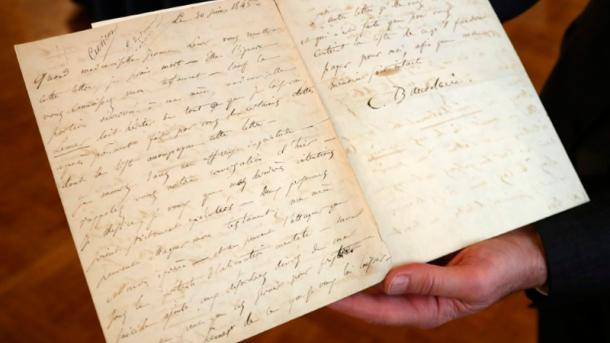 Письмо Бодлера любовнице о самоубийстве продали за 234 тыс. евро
