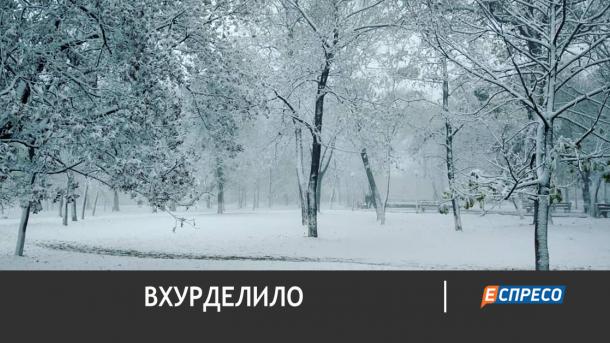 Крым засыпало снегом