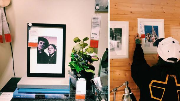 Потому что скучно: парень заменил все снимки в IKEA собственными фото, и его не заметили