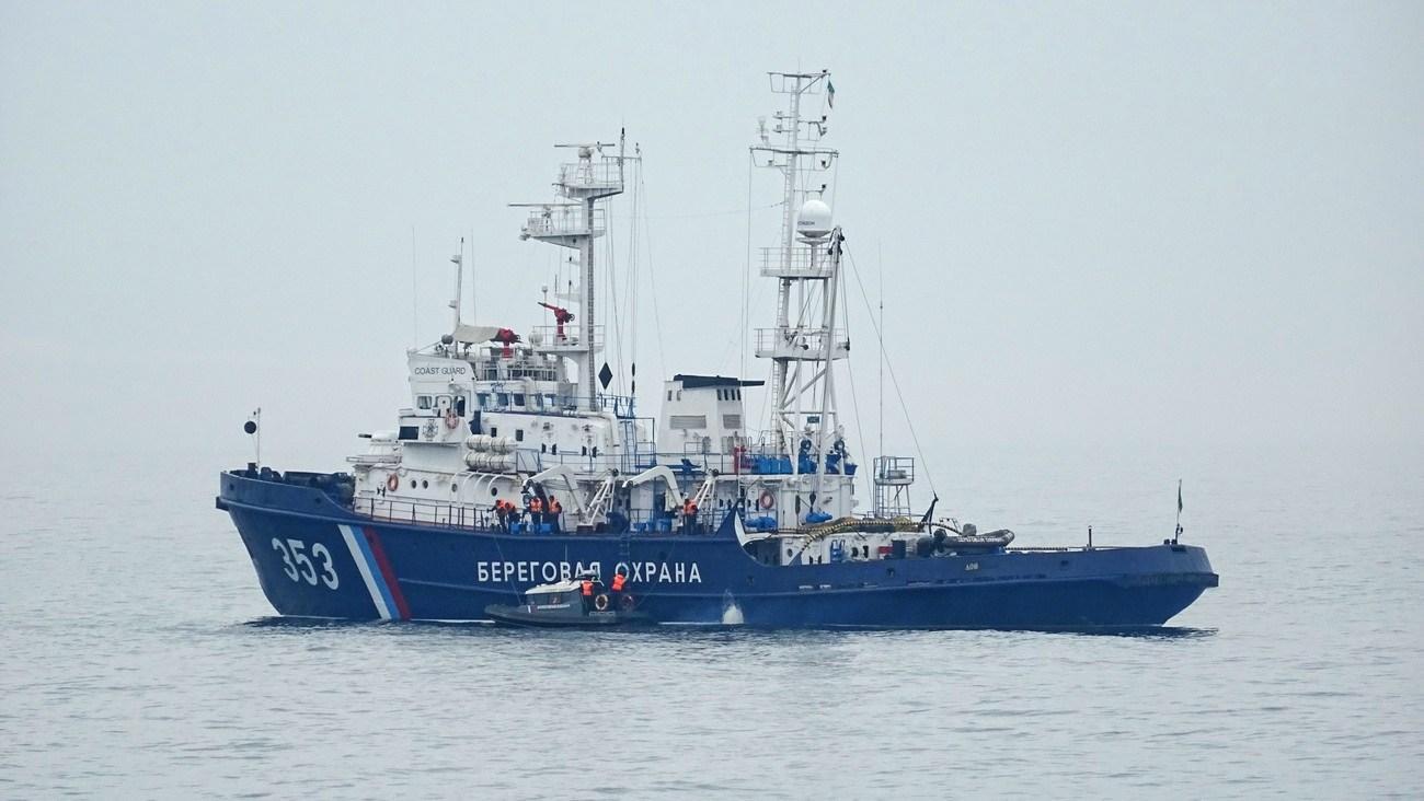 """Російський корабель """"Дон"""", який таранив український буксир """"Яни Капу"""""""