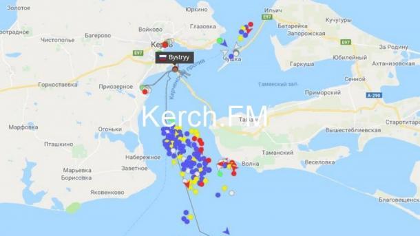 Россия закрыла Керченский пролив