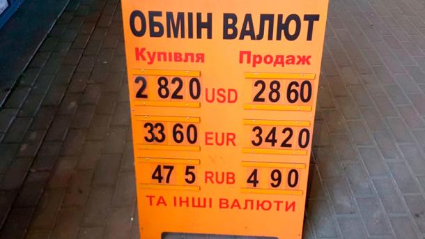 "Обменники и банки ""задрали"" курс до 29 грн за доллар, но паника на рынке проходит"