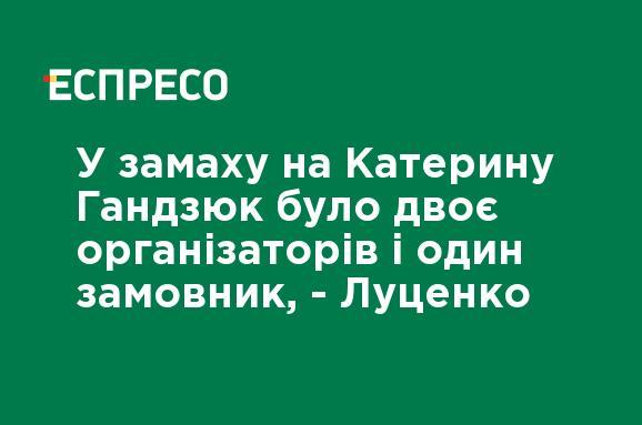 В покушении на Екатерину Гандзюк было двое организаторов и один заказчик, - Луценко