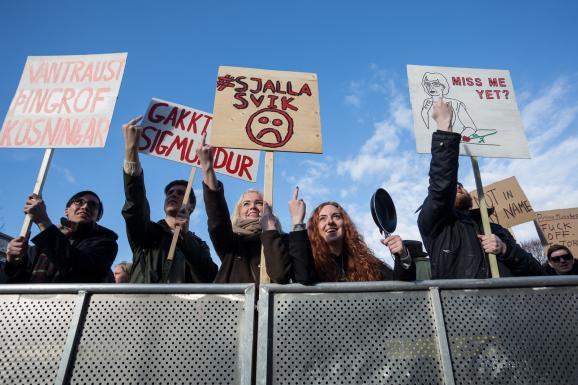 Ісландія акція протесту